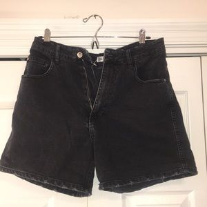 Black denim Zara high waisted shorts